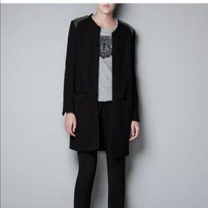 ISO !! Zara rare Rhinestone blazer coat